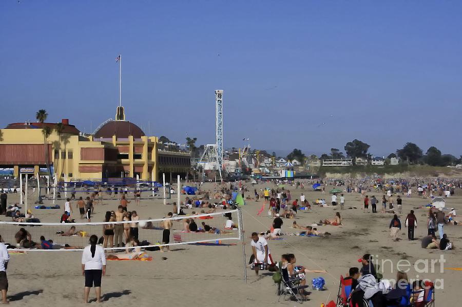 Print Photograph - 558 Pr Santa Cruz Main Beach by Chris Berry