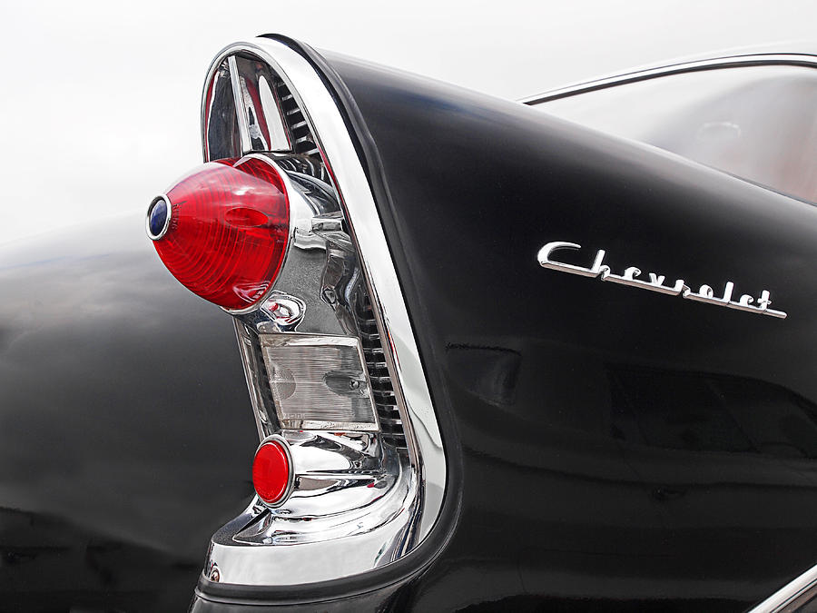 56 Chevy Rear Lights Photograph By Gill Billington