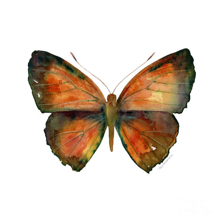 Butterfly Painting - 56 Copper Jewel Butterfly by Amy Kirkpatrick