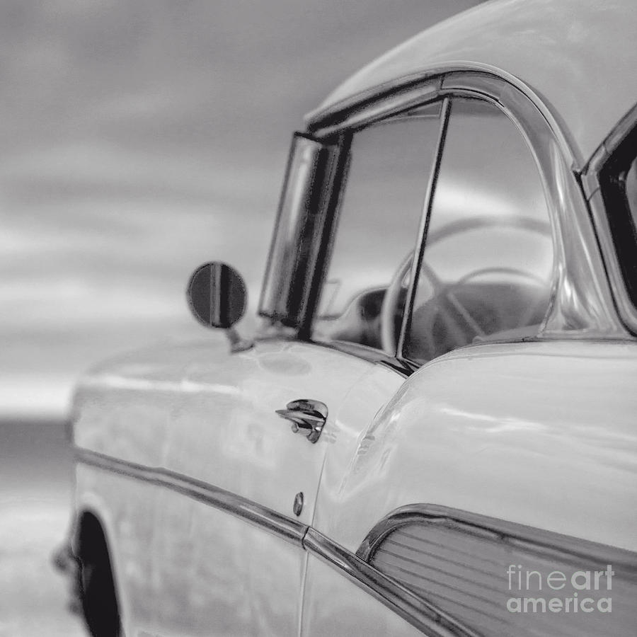 Chevy Photograph - 57 Chevy Belair At The Beach by Edward Fielding