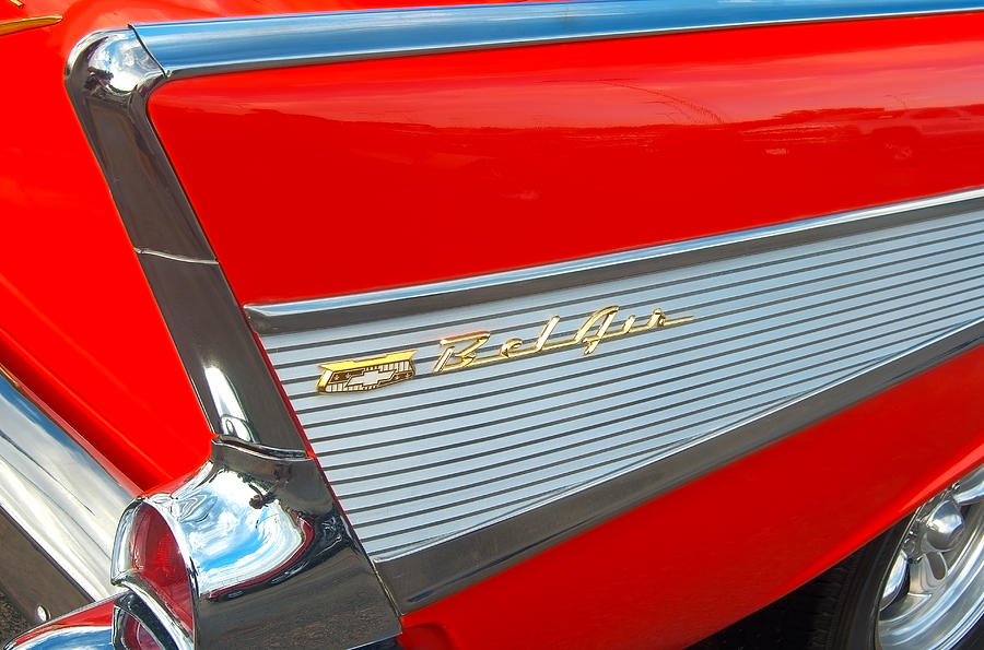 1957 Photograph - 57 Chevy Tail Fin by Don Durante Jr