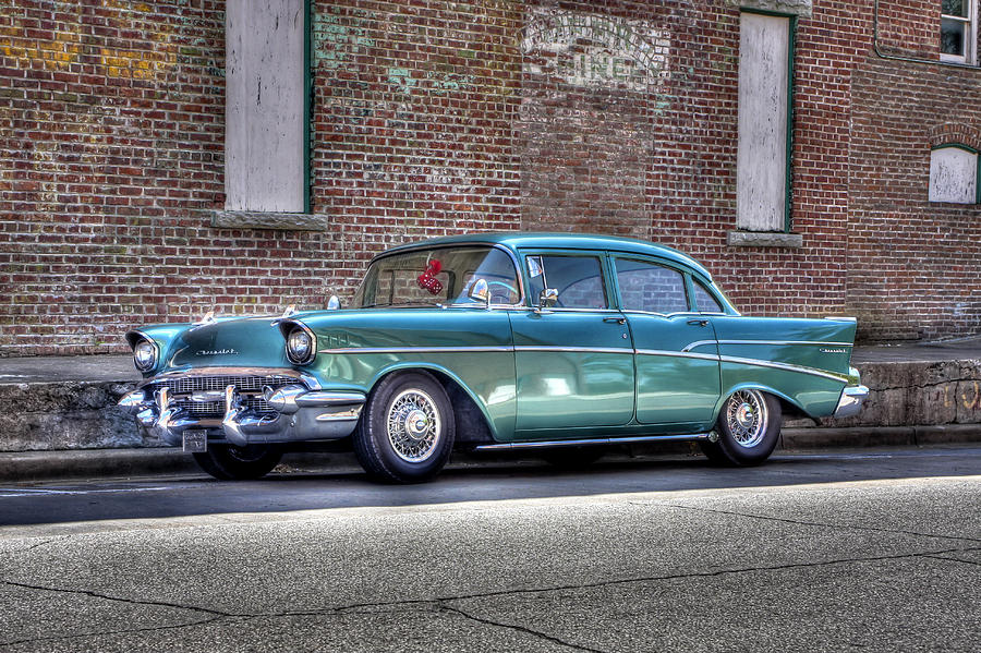 Car Photograph - 57 Chevy by Tony  Colvin