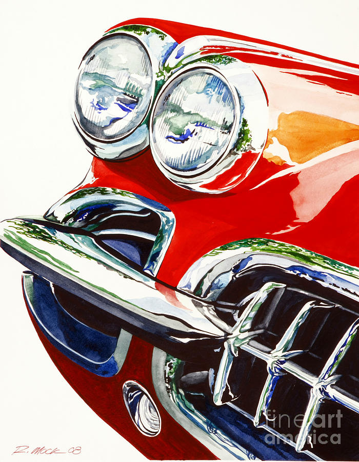 Corvette Painting - 58 Corvette by Rick Mock