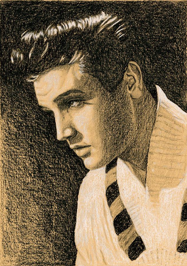 Elvis Drawing - 58 Publicity by Rob De Vries
