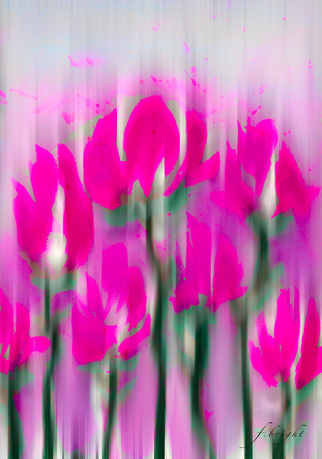 Rose Digital Art - 6 1/2 Flowers by Frank Bright