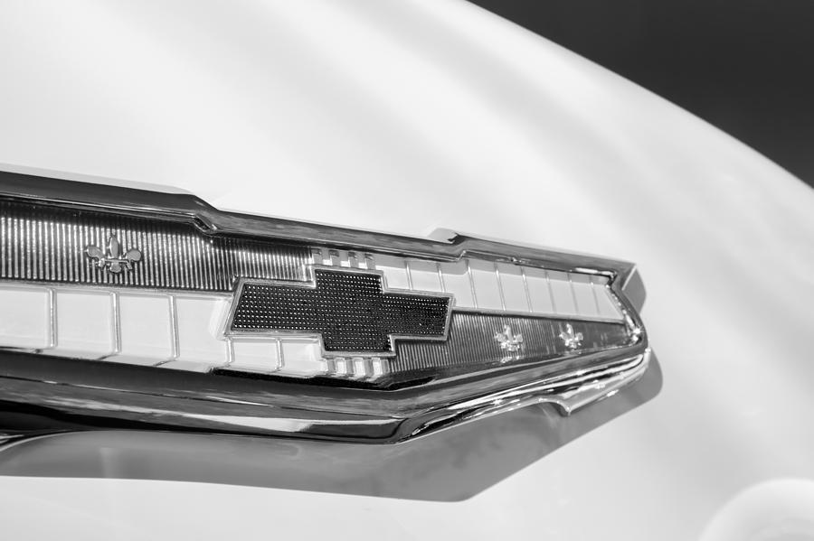 1955 Chevrolet Belair Emblem Photograph By Jill Reger