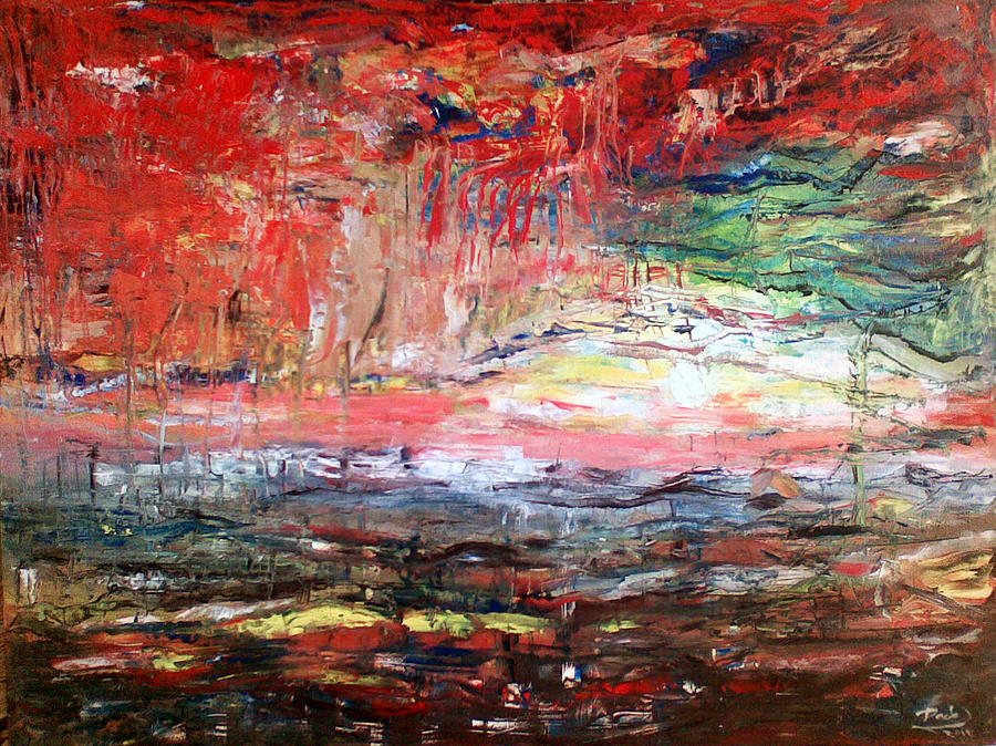 Abstract Painting by Deeb Marabeh