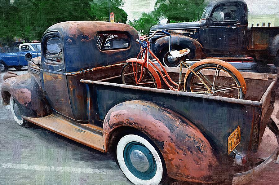 American Classic Cars Trucks And Motorcycles Digital Art by Joseph ...
