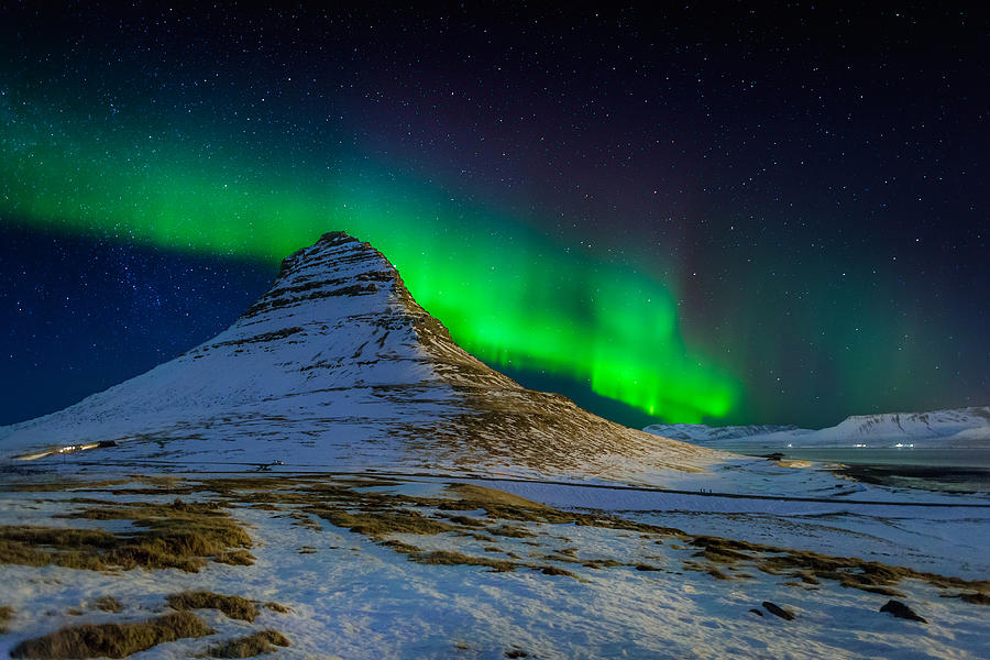 Color Image Photograph - Aurora Borealis Or Northern Lights by Panoramic Images