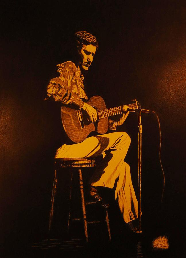 Realism Drawing - Chet Adkins 1975 by Charles Rogers
