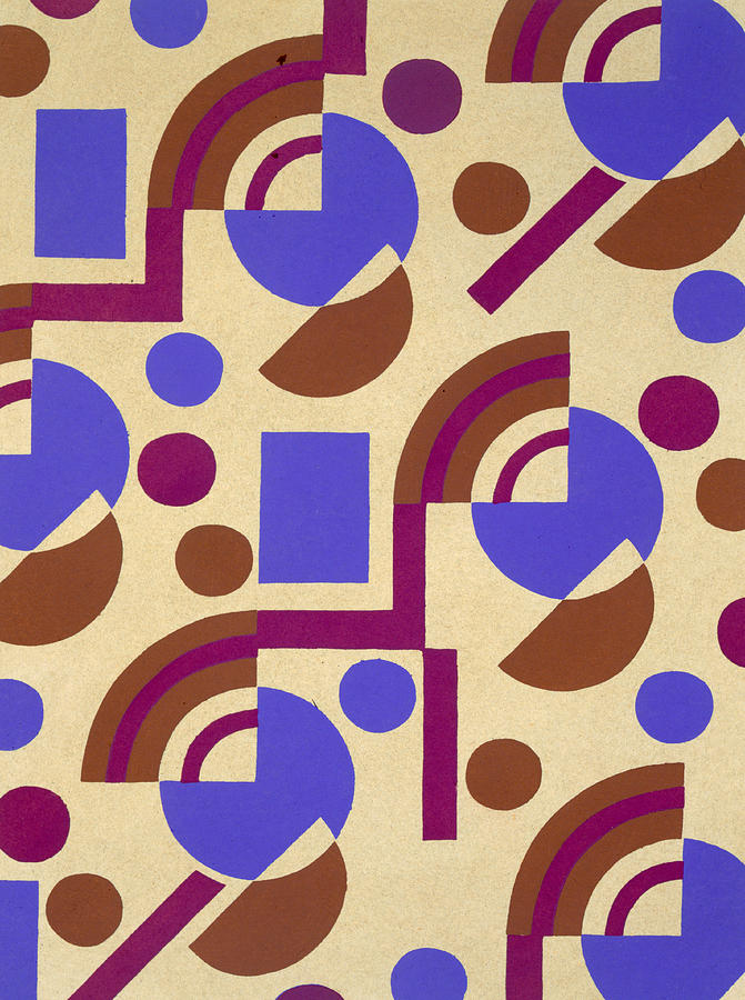 Circles Painting - Design From Nouvelles Compositions Decoratives by Serge Gladky