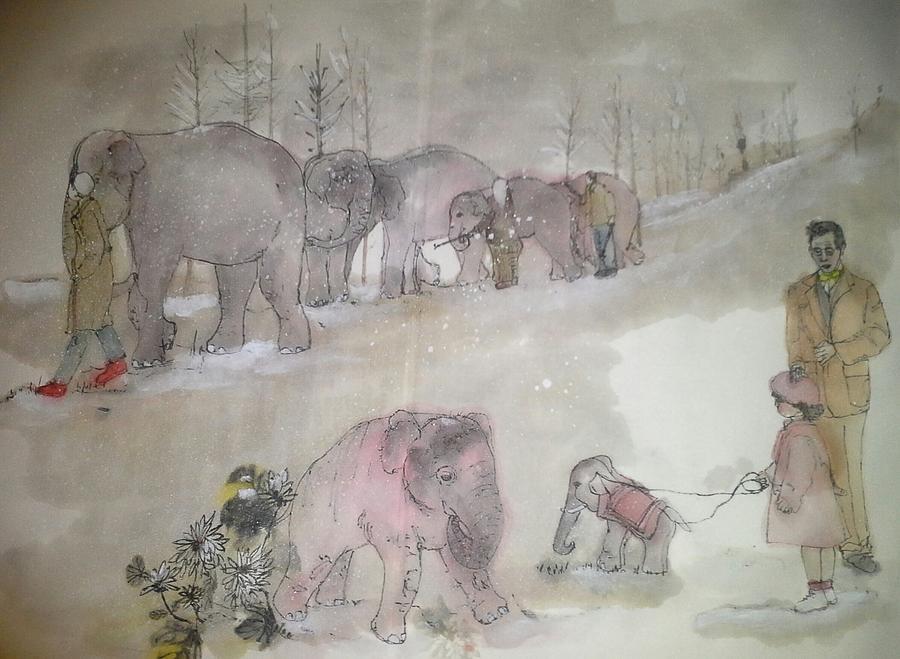 Elephant Painting - Elephants Elephants Elephants Album by Debbi Saccomanno Chan