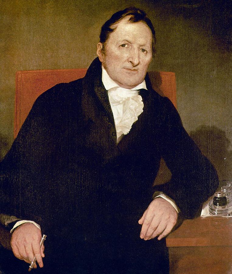 1822 Painting - Eli Whitney (1765-1825) by Granger