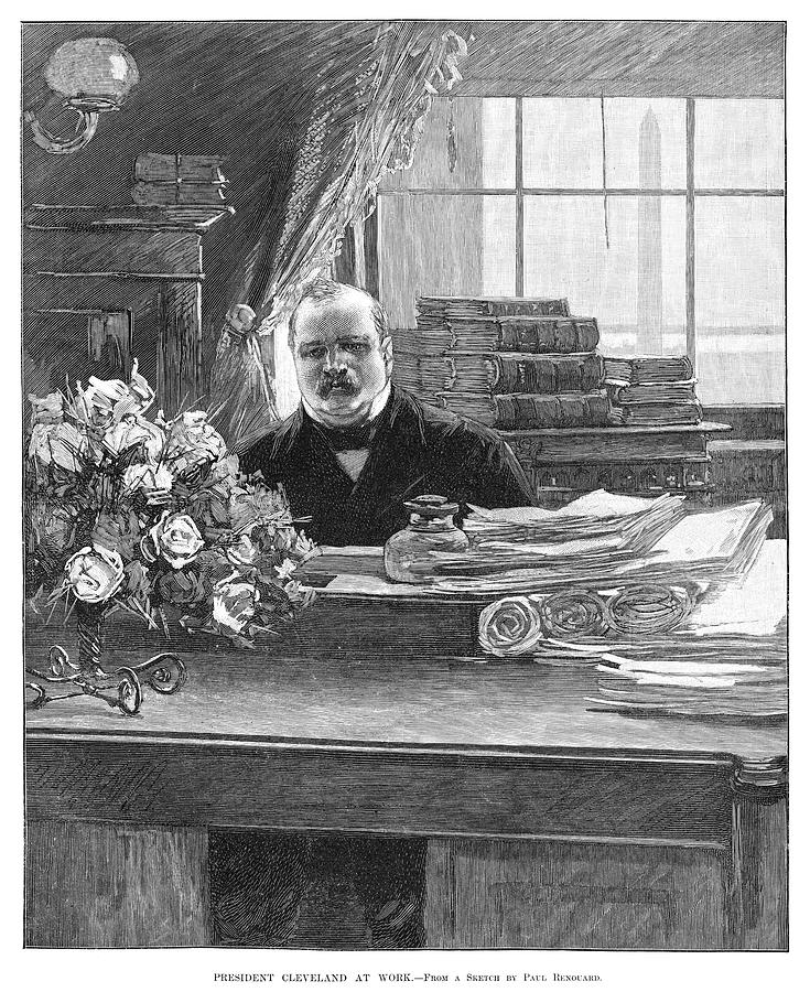 1888 Painting - Grover Cleveland (1837-1908) by Granger