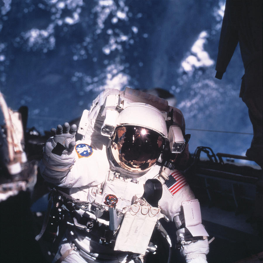 Spacesuit Photograph - Iss Space Walk by Nasa/science Photo Library