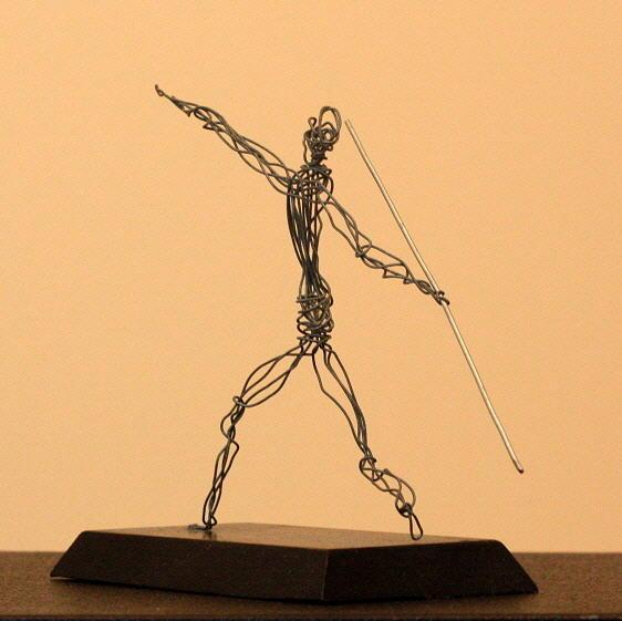 Man Sculpture - Javelin Thrower  by Mel Drucker