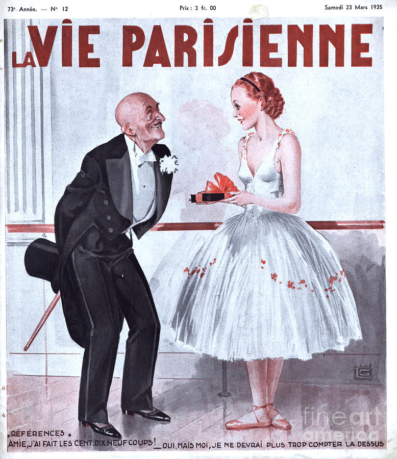 1930s Drawing - La Vie Parisienne 1935 1930s France by The Advertising Archives