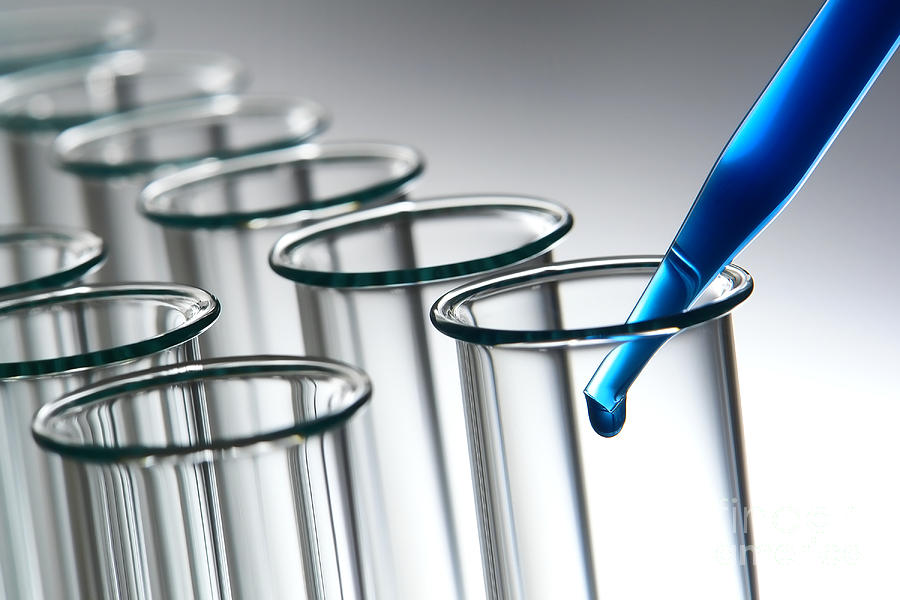 Laboratory Test Tubes In Science Research Lab Photograph