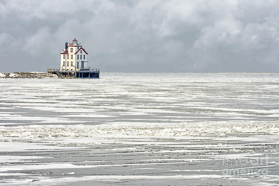 Lorain Lighthouse In Winter Photograph