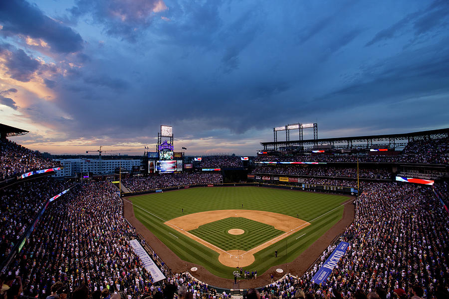 National League Baseball Photograph - Los Angeles Dodgers V Colorado Rockies by Justin Edmonds