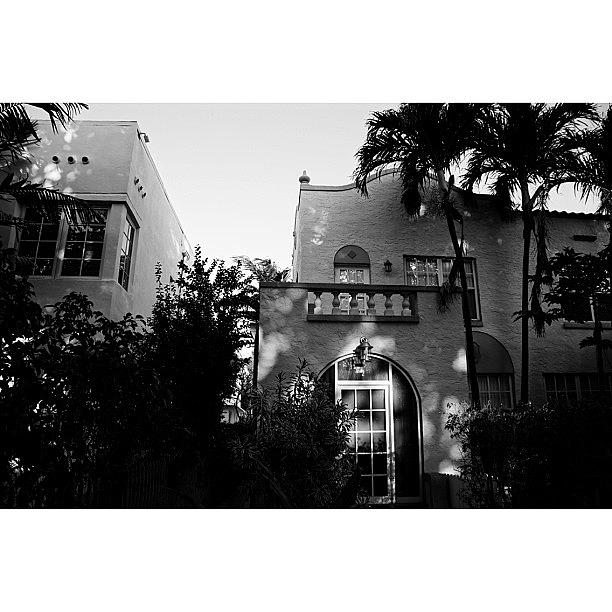 Blackwhite Photograph - {miami Beachs Art Deco}  In 1979 6 by Joel Lopez