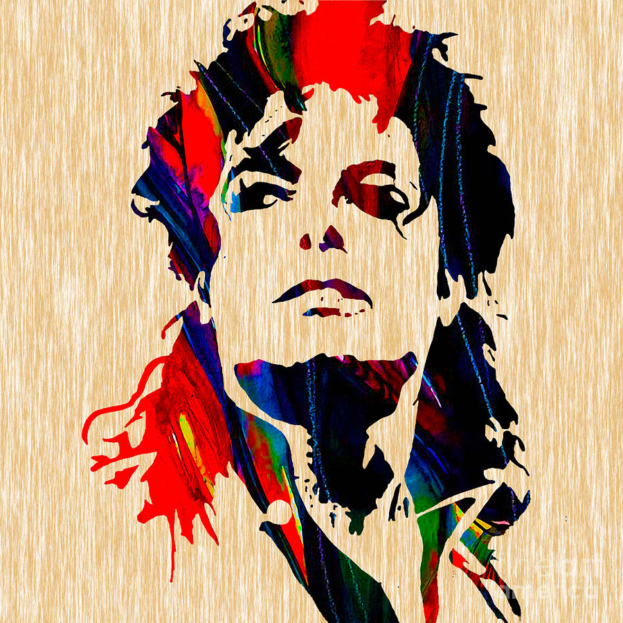 Michael Jackson Painting Mixed Media by Marvin Blaine