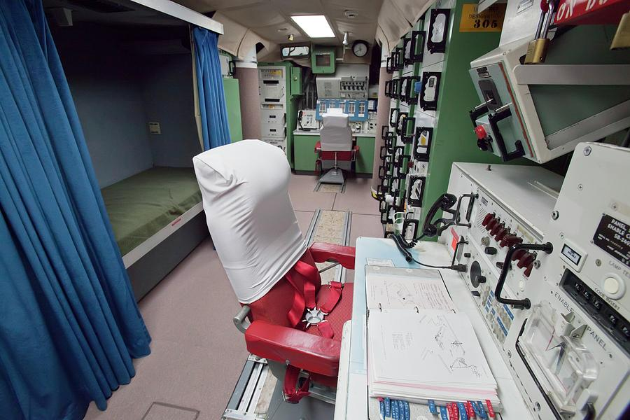 Control Panel Photograph - Minuteman Missile Control Room by Jim West