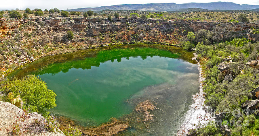 Montezuma's Well Painting - Montezumas Well by Gregory Dyer