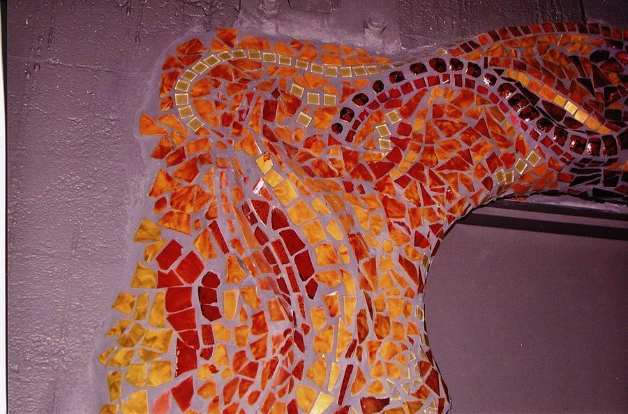 Mosaic Doorway Ceramic Art by Charles Lucas