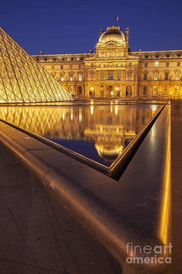 Architectural Photograph - Musee Du Louvre by Brian Jannsen