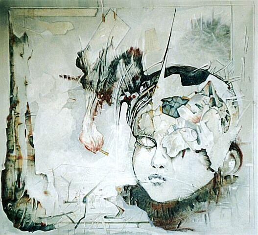 Graphic Paintings Painting - No Title by Dabrowski Waldemar
