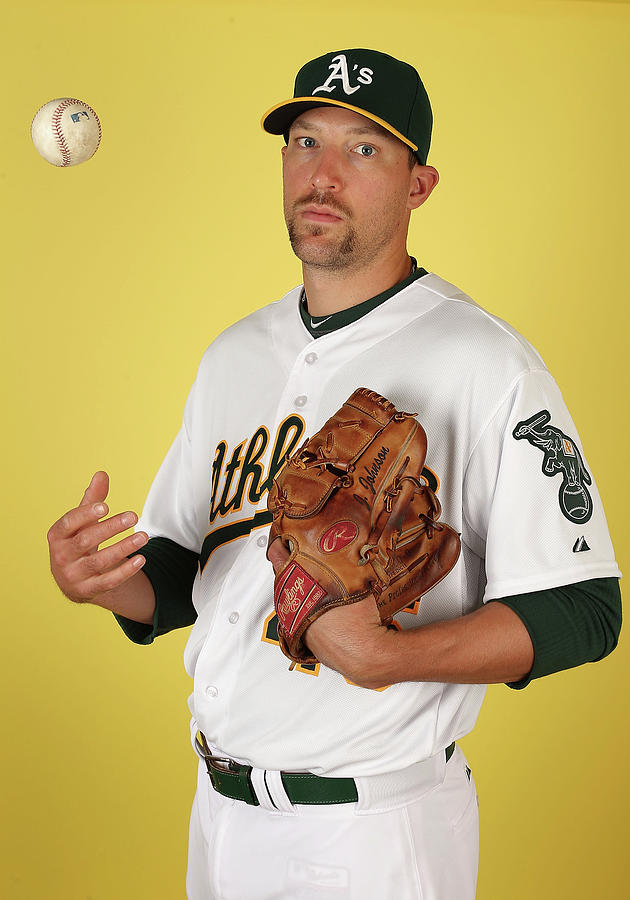 Oakland Athletics Photo Day Photograph by Christian Petersen