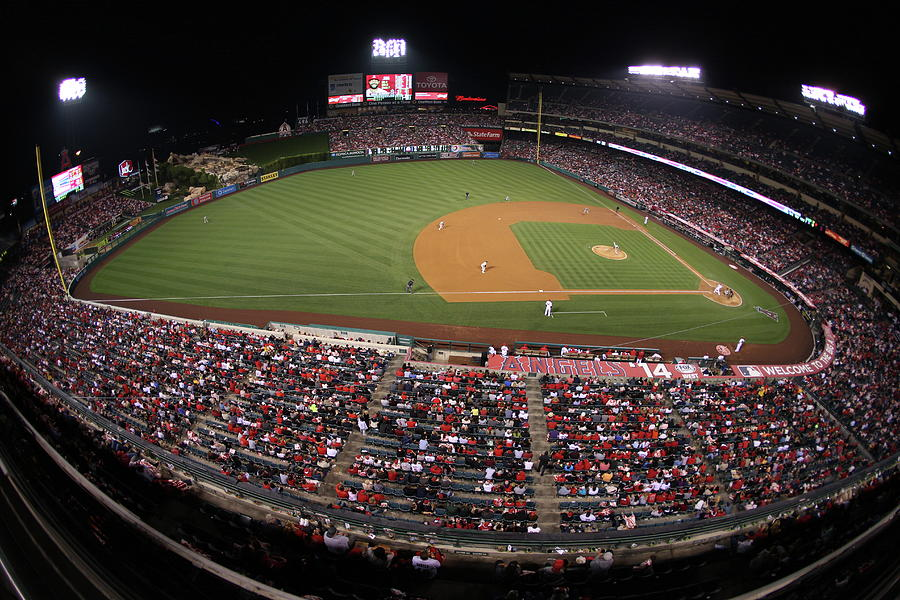Oakland Athletics V. Los Angeles Angels Photograph by Paul Spinelli