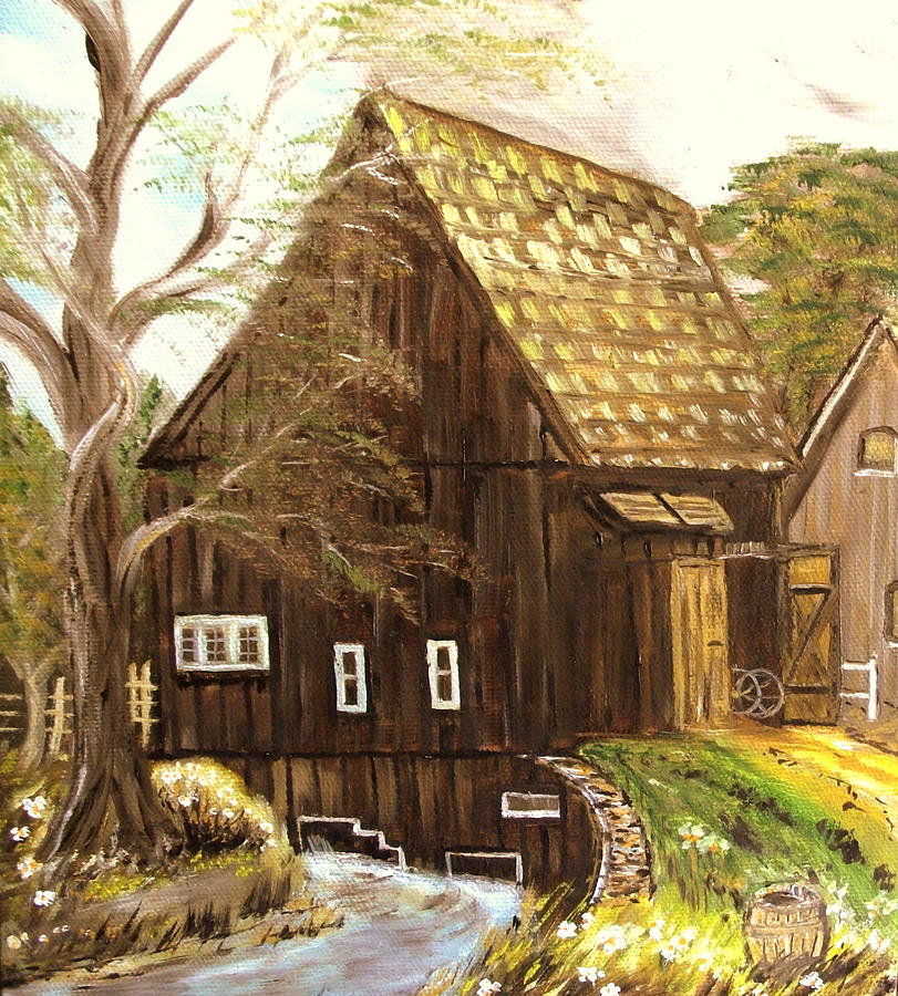 Mill Painting - Old mill by Kenneth LePoidevin