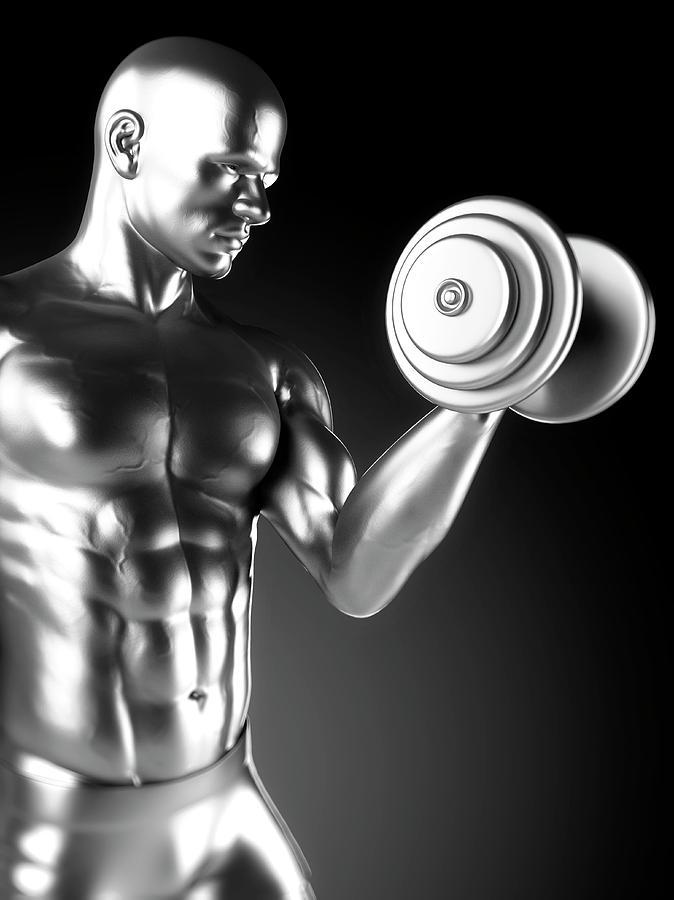 Artwork Photograph - Person Weight Lifting by Sebastian Kaulitzki