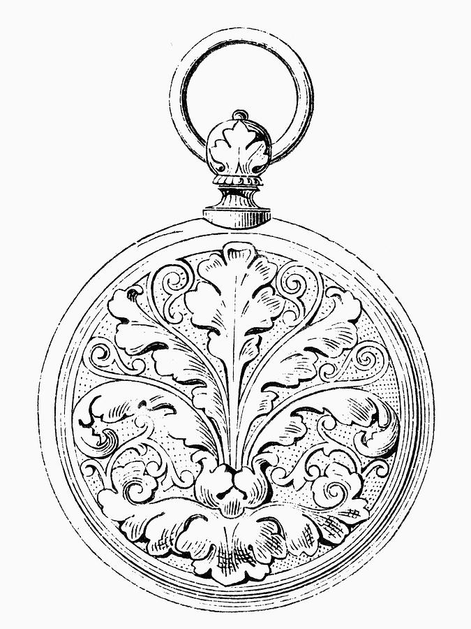 19th Century Painting - Pocket Watch, 19th Century by Granger