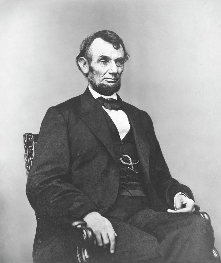 Abraham Lincoln Photograph - President Lincoln by War Is Hell Store
