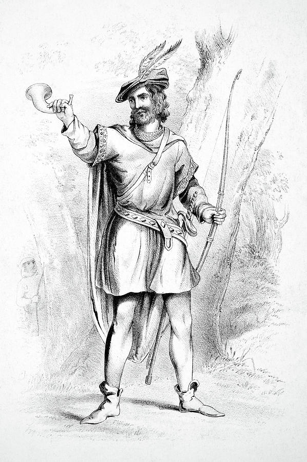 c17293c4728 Robin Hood Drawing by Granger