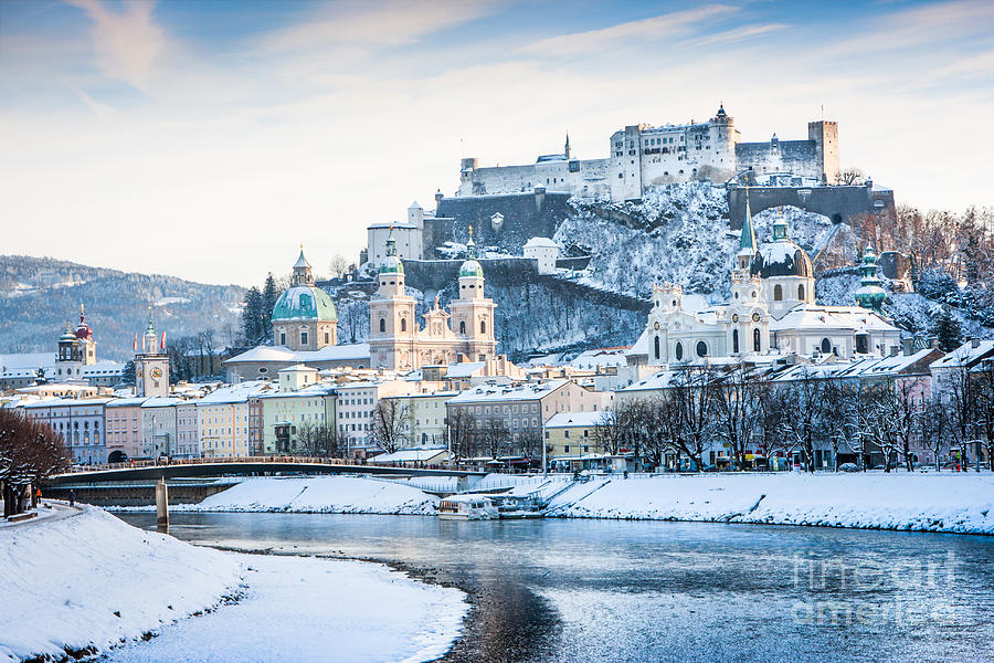 Austria Photograph - Salzburg in winter by JR Photography