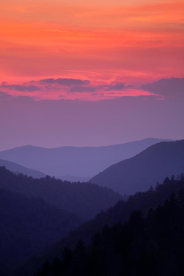 Smokies Photograph - Smoky Mountain Sunset by Andrew Soundarajan