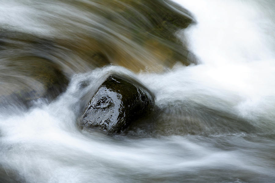 Brook Photograph - Stream by Les Cunliffe