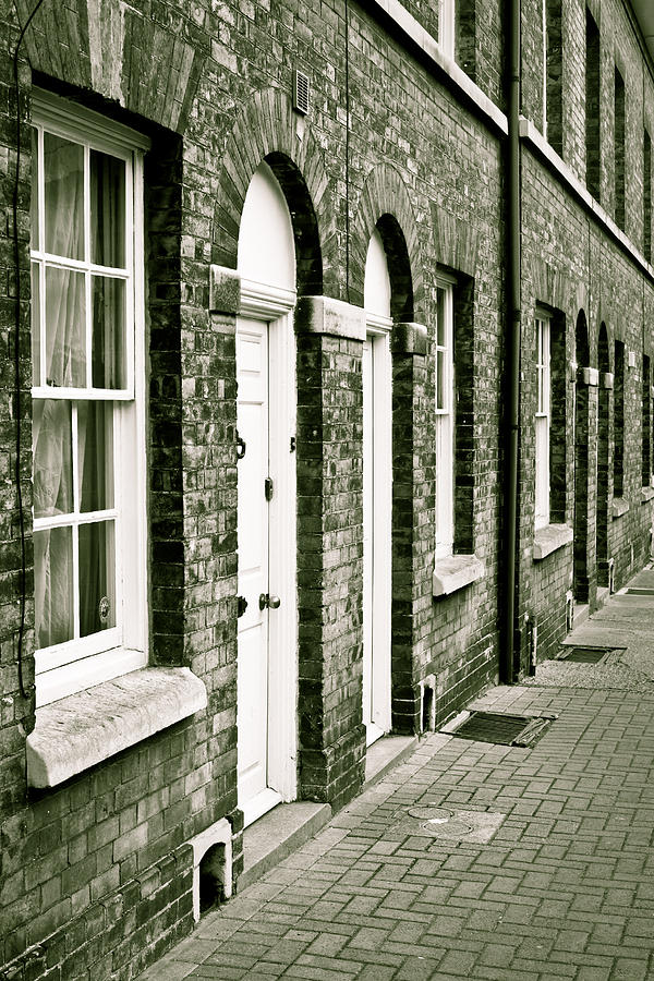 Black And White Photograph - Town Houses by Tom Gowanlock