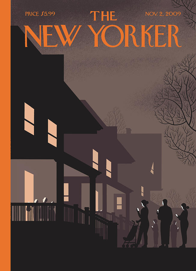 New Yorker November 2nd, 2009 Painting by Chris Ware
