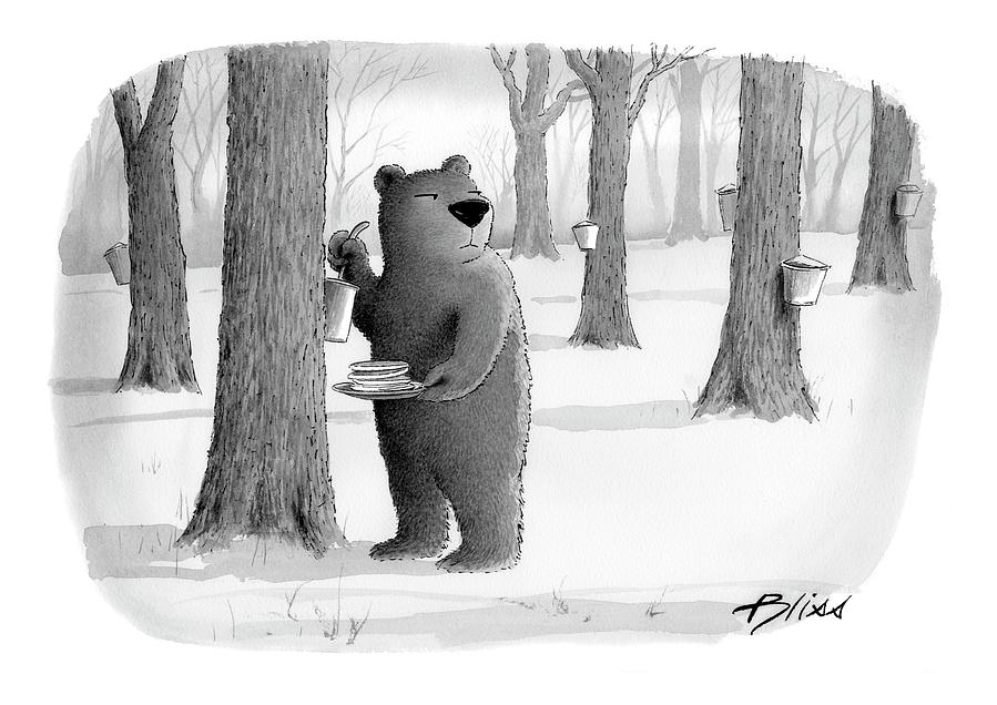 Bear Drawing - New Yorker April 2nd, 2007 by Harry Bliss