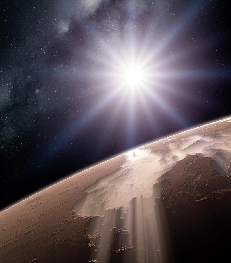 Artwork Photograph - Valles Marineris by Detlev Van Ravenswaay