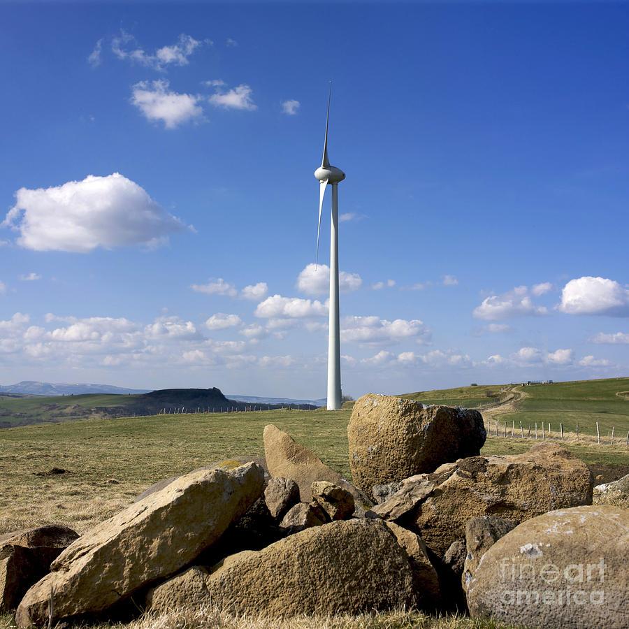 Wind Photograph - Wind Turbine by Bernard Jaubert