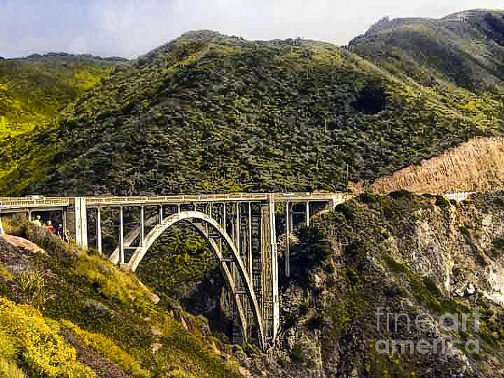 Print Photograph - 604 Det  Big Sur Bridge by Chris Berry
