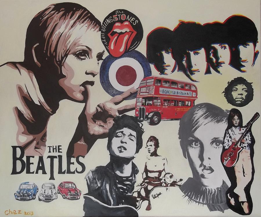 60's Painting - 60s Montage by Cherise Foster