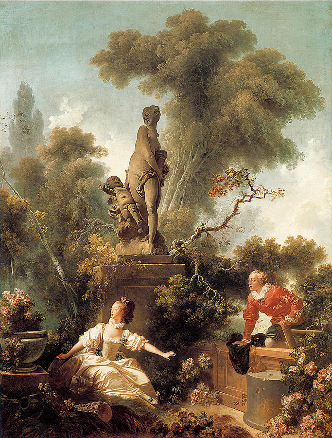 Jean Honore Fragonard Painting - The Declaration Of Love 1 by Jean Honore Fragonard