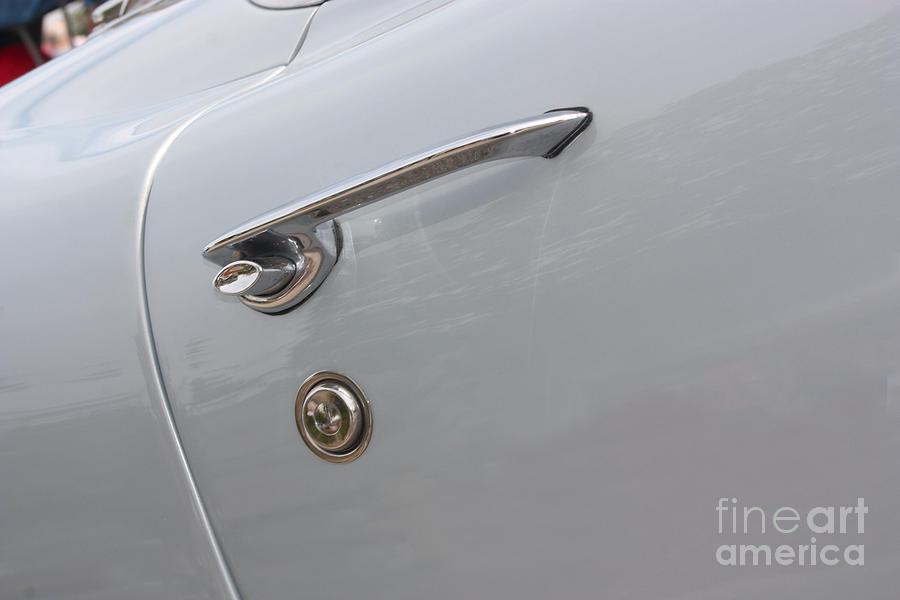 Chevrolet Photograph - 61 Corvette-grey-door Handle-9268 by Gary Gingrich Galleries